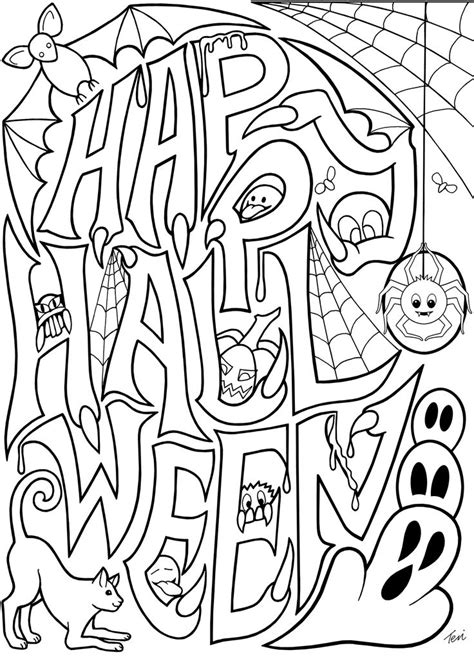 free easy printable halloween coloring pages best 25 halloween coloring ideas on pinterest halloween