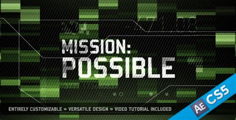 Mission Possible By Motionrevolver Videohive Mission Impossible After Effects Template
