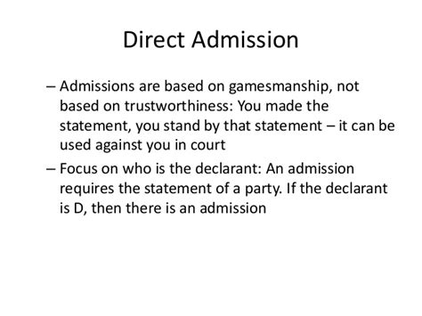 Court Employee Admission Of Vicarious by Evidence 101 Part Ii
