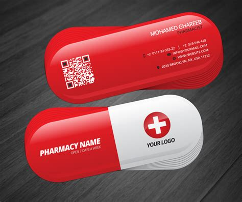 free pharmacy business card template creative pharmacist business card on behance