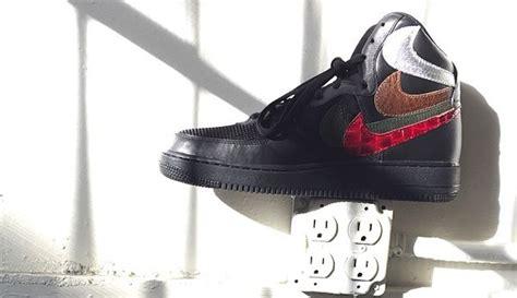 Nike Background Check Nike Air 1 High Black Misplaced Checks Sneaker Bar Detroit
