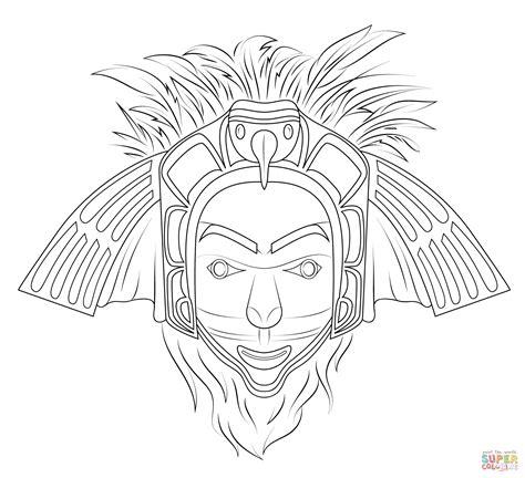 eagle mask coloring page native american eagle mask coloring page free printable