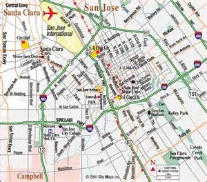 map of san jose california california map