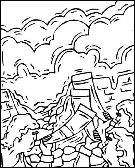 Battle Of Jericho Coloring Page Coloring Home Joshua And The Walls Of Jericho Coloring Page