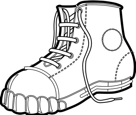 Cowboy Boots Coloring Page Clipart Best Boots Coloring Pages