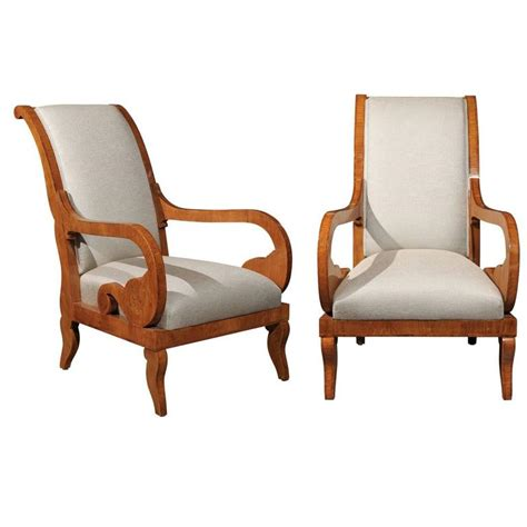 pair of armchairs pair of biedermeier armchairs english accent antiques