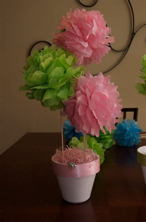 How To Make Tissue Paper Centerpieces - tissue pouf pom pom arrangement tutorial and how to