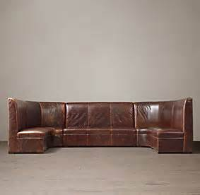 leather banquettes restoration hardware