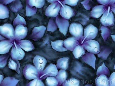 flower wallpaper effect blue flowers pattern watercolor effect 11 wallcoo net