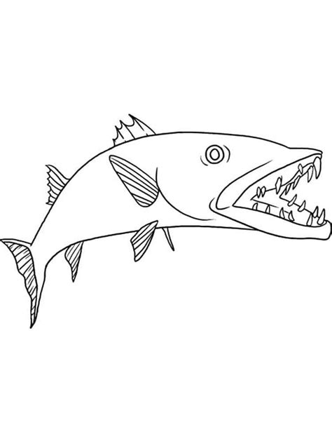 barracuda fish coloring page barracuda coloring pages download and print barracuda