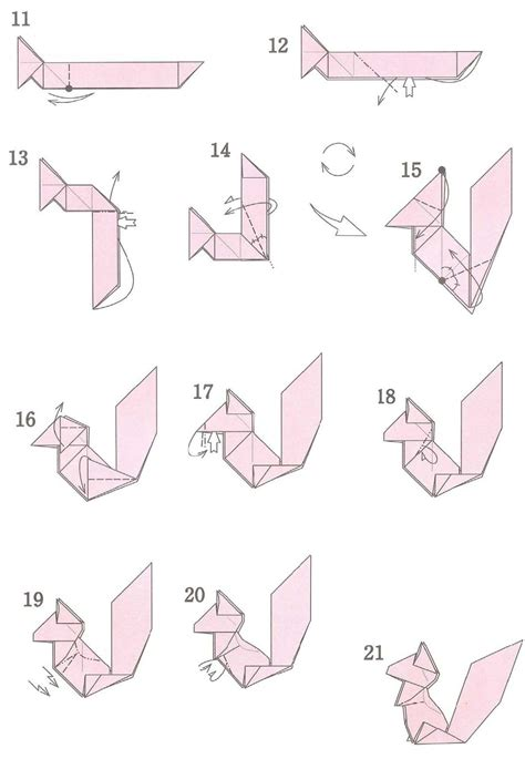 Easy Origami Squirrel - http origamiks origamidiagrams