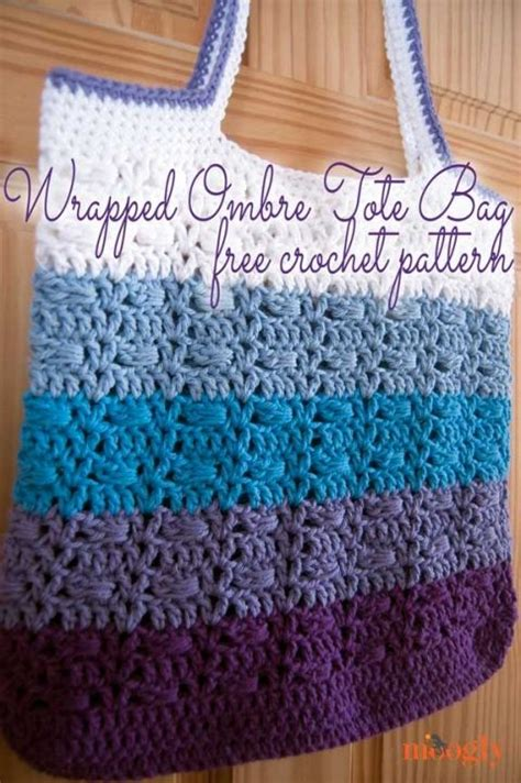 pinterest pattern tote bag wrapped ombre tote bag free crochet pattern from moogly