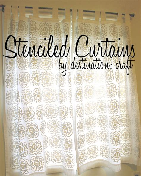 stencil curtains destination craft stenciled curtains stenciled fabric
