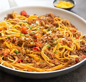 Large Dutch Oven Taco Spaghetti Recipe4diaries
