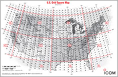 icom us grid square map radio tools icom america