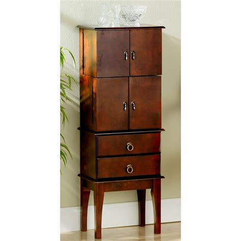 cherry armoire holly martin isabella cherry jewelry armoire 300126 jewelry at sportsman s guide