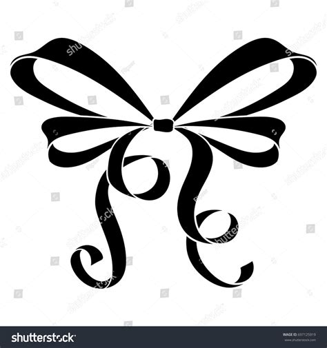 Flat Black Ribbon 1 ribbon bow black flat icon vector stock vector 697125919