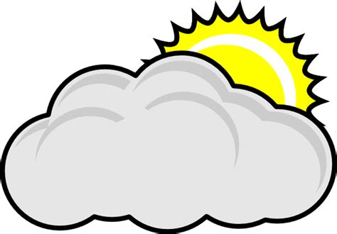 Partly Cloudy Clipart partly cloudy with sun clip at clker vector clip