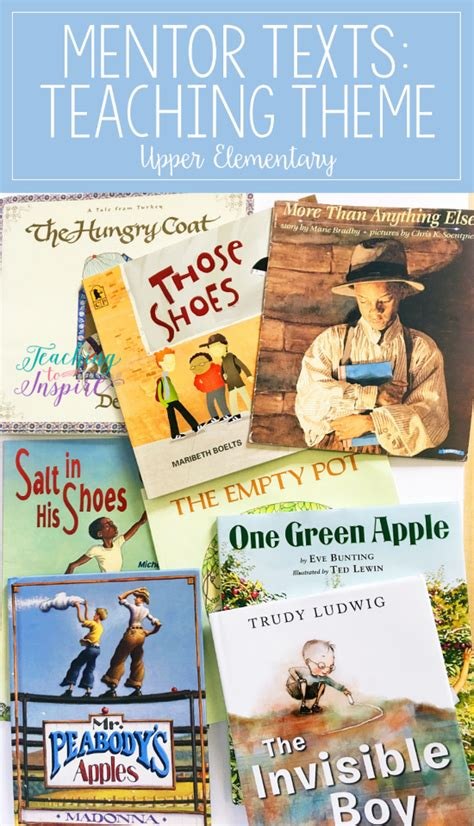 list of picture books to teach theme read alouds to teach theme mentor texts for reading series
