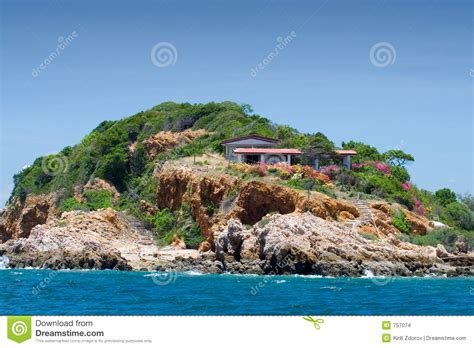 house on an island house on an island 2 stock images image 757074