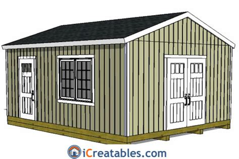 Gable Shed Plans by 16x20 Gable Shed Plans Large Backyard Shed Plans
