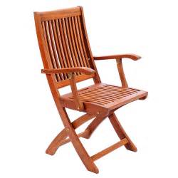 Folding Patio Chairs With Arms Hardwood Folding Chair With Arms Achla Designs Folding Stacking Chairs Patio Chairs Outd