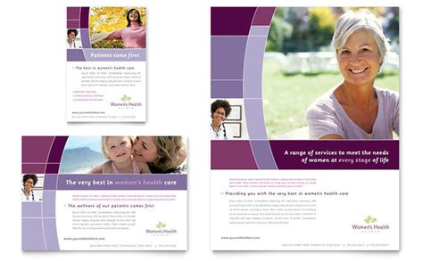 women s health clinic flyer ad template design