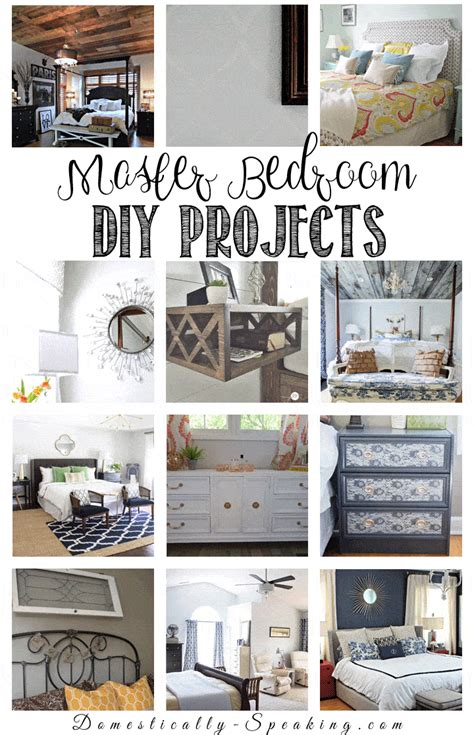 diy projects bedroom diy room decor ideas for the master bedroom domestically