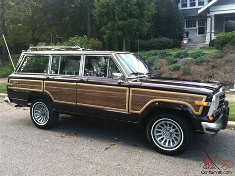 jeep wagoneer 1989 1989 jeep grand wagoneer fresh paint brand tires