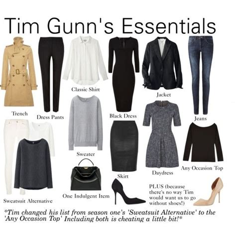 S Wardrobe Basics by 17 Best Ideas About Tim Gunn On Project Runway