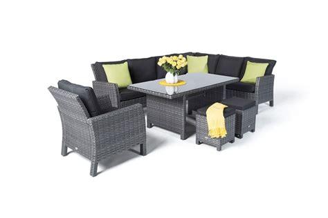 qualität teak gartenmöbel manchester rattan garden furniture dining lounge in mixed grey