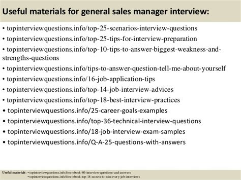 top 10 general sales manager questions and answers
