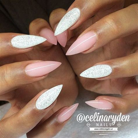 50 lovely pink and white nail designs