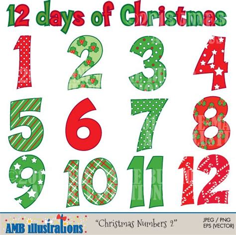 images of christmas numbers christmas numbers clipart clipart kid