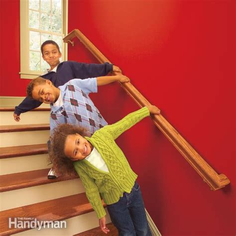 stair banister installation install a new stair handrail the family handyman