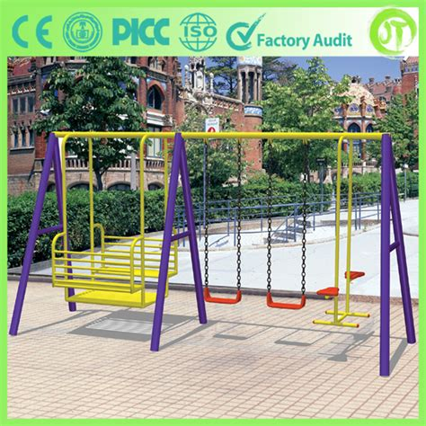 cheap childrens swing sets jt 11904b cheap double outdoor metal swing sets adults