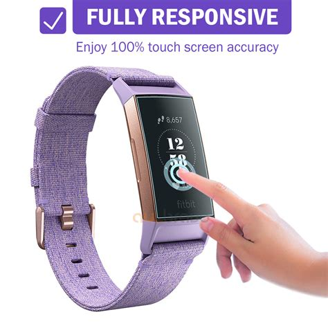 for fitbit charge 3 compact tpu hardness anti fingerprint screen protector ebay
