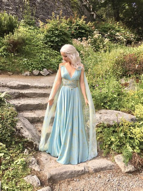 pattern for qarth dress game of thrones daenerys qarth dress blue with belt and