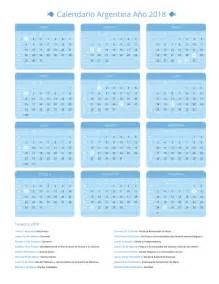 Calendario 2018 Feriados Calendario Argentina A 241 O 2018 Feriados