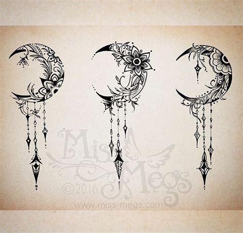 crescent moon tattoo design crescent moon tattoos on moon designs