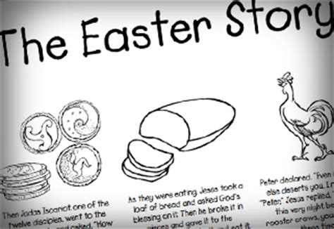 coloring pages for the easter story free coloring page quot the easter story quot