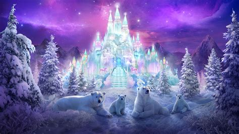 colorful winter wallpaper magical winter wonderland wallpaper and background image