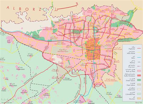 tehran map city map