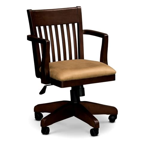 wood desk chairs wooden swivel desk chair whitevan