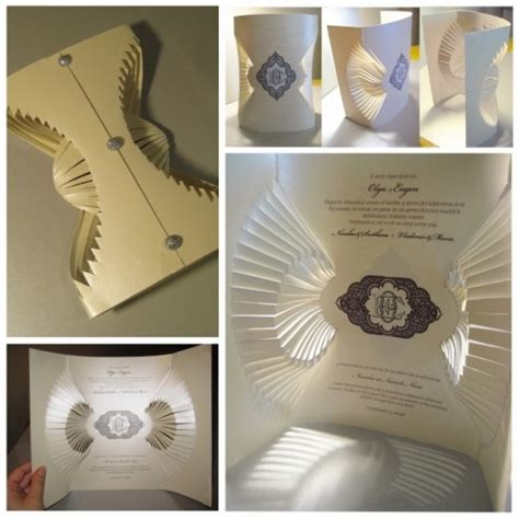 Creative Folding Paper - 23 creative and unique wedding invitations creative
