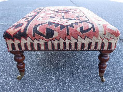 kilim covered ottoman 20th century english kilim covered ottoman at 1stdibs