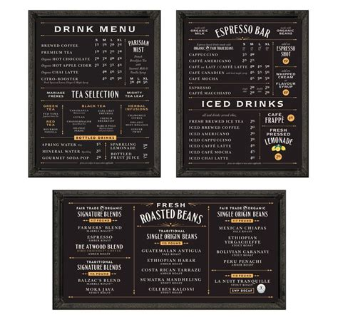 one page layout menu links best 25 menu board design ideas on pinterest cafe menu