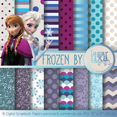 printable frozen scrapbook paper unavailable listing on etsy