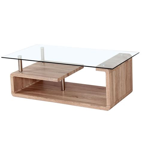 curva glass coffee table