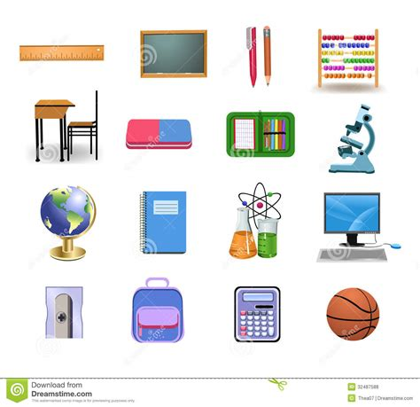 coloring school icons royalty free stock photos image school icons and objects royalty free stock photos image